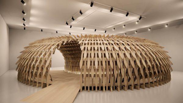 Triennale NGV botanical pavilion 2020 kengo kuma geoff nees