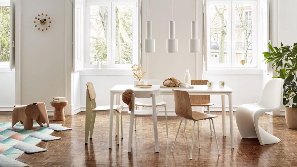Vitra | Prouve & All Plastic & Hal + Panton krzesła_do_jadalni