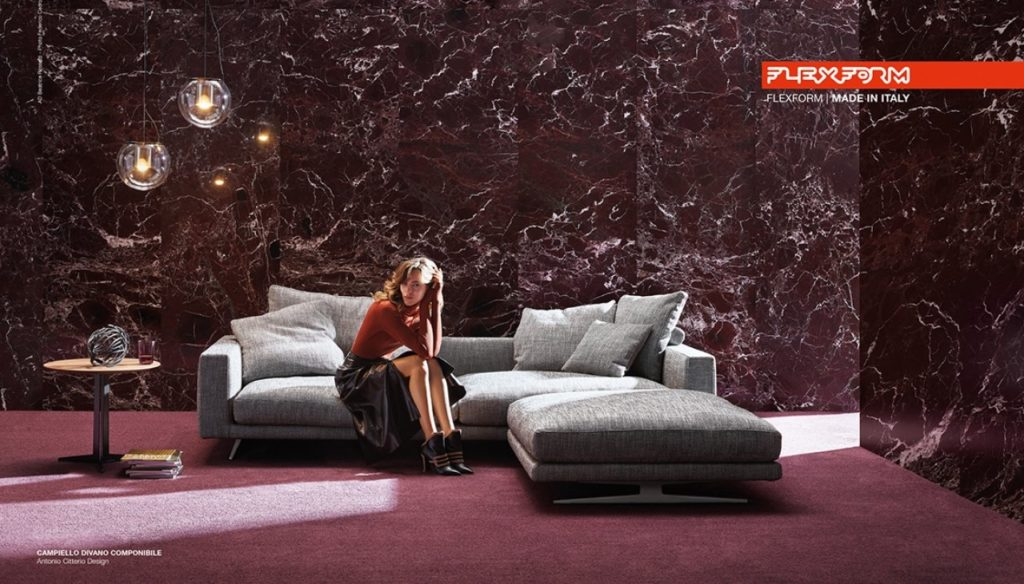 Flexform - sofa campiello - projekt: Antonio Citterio