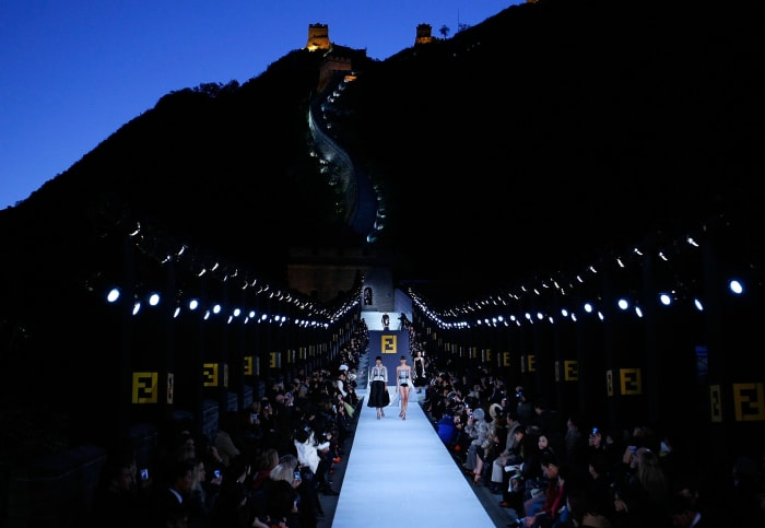 Fendi fall 2007 at the Great Wall of China. © Lucas Dawson