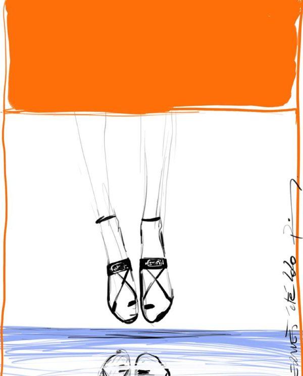 Alba sandały, Hermès ss 2020