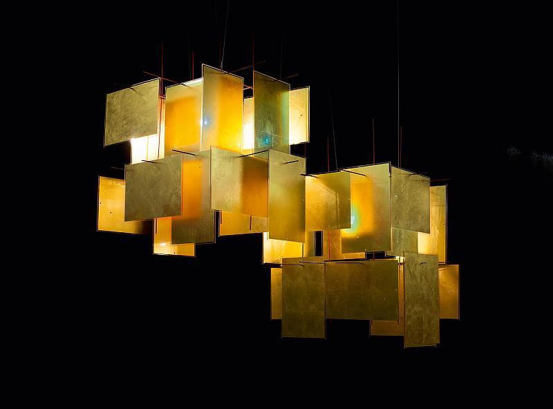 lampy do salonu Ingo Maurer | 1000 Karat Blau